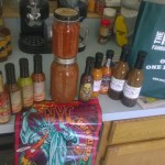 My NYC Hot Sauce loot sans Mom's gifts and t-shirt
